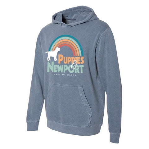 Puppies and Newport Hoodies
