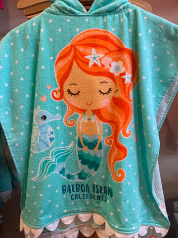 Girls Towel Cape Mermaid EN