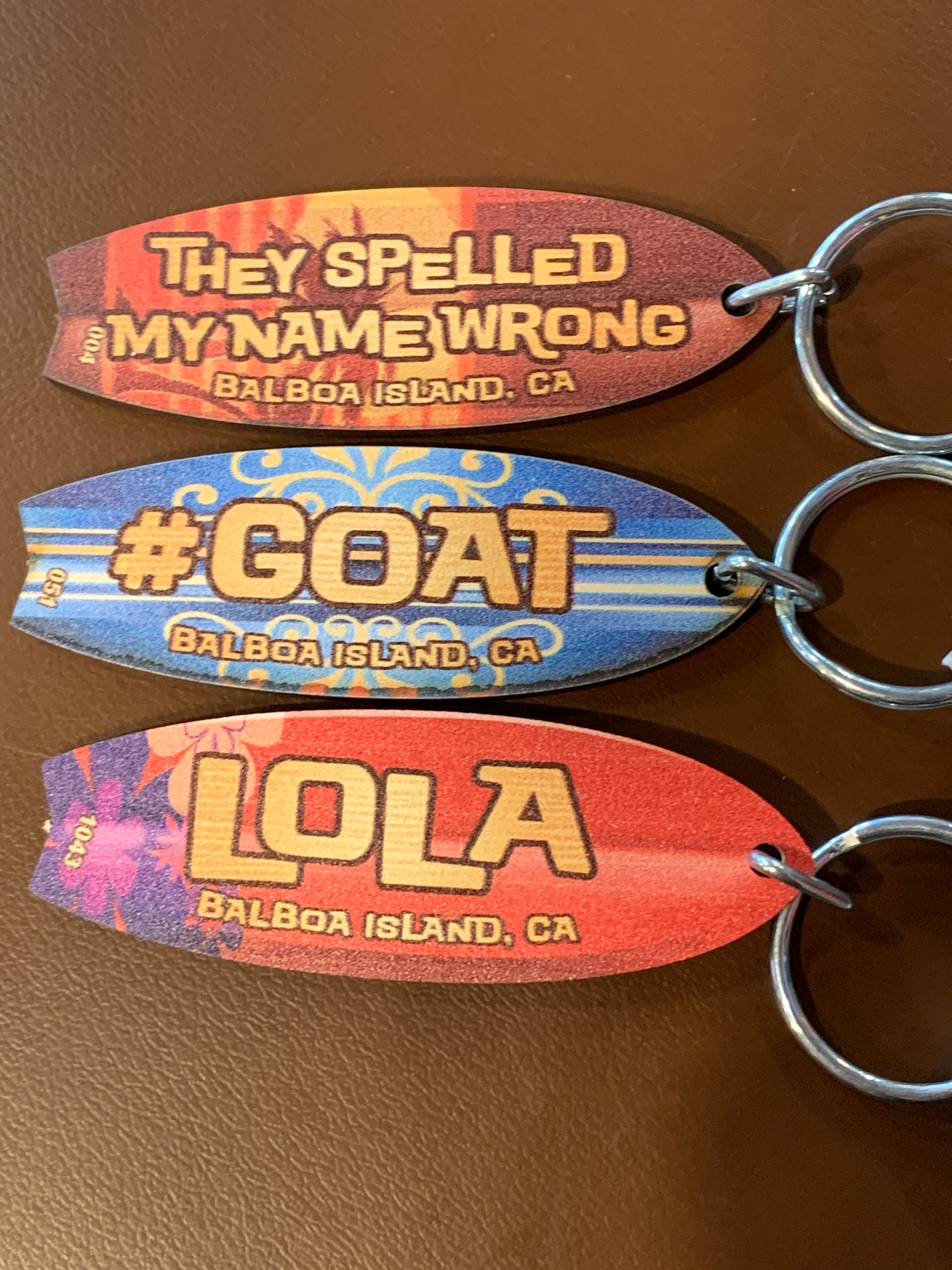 surfboard name keychain