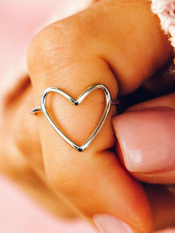 Pura Vida Silver Big Heart Ring
