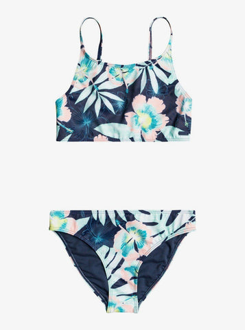 ROXY Girl's Hawaii Story Crop Top Set