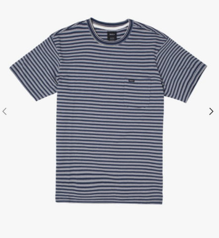 RVCA Mens Downline Stripe Tee