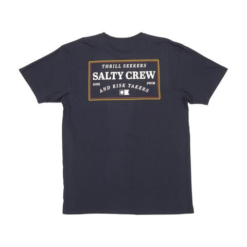 salty Crew Top Stitch Pocket Tee