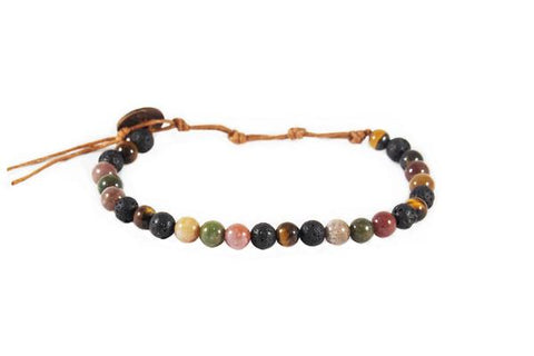 Lotus & Luna 6 mm Healing Bracelet Crystals Stones Men