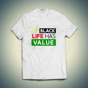 "My Black Life Has Value ""Highlights"" Printed T-shirt"
