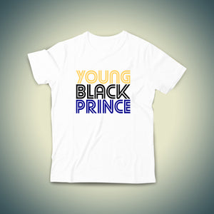 Young Black Prince Kids T-shirt