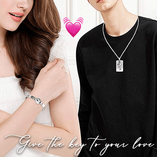 Promising Love Locked Bangle Set (Valentine's Day Special Offer)
