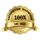 100% satisfaction guaranteed 14K Gold