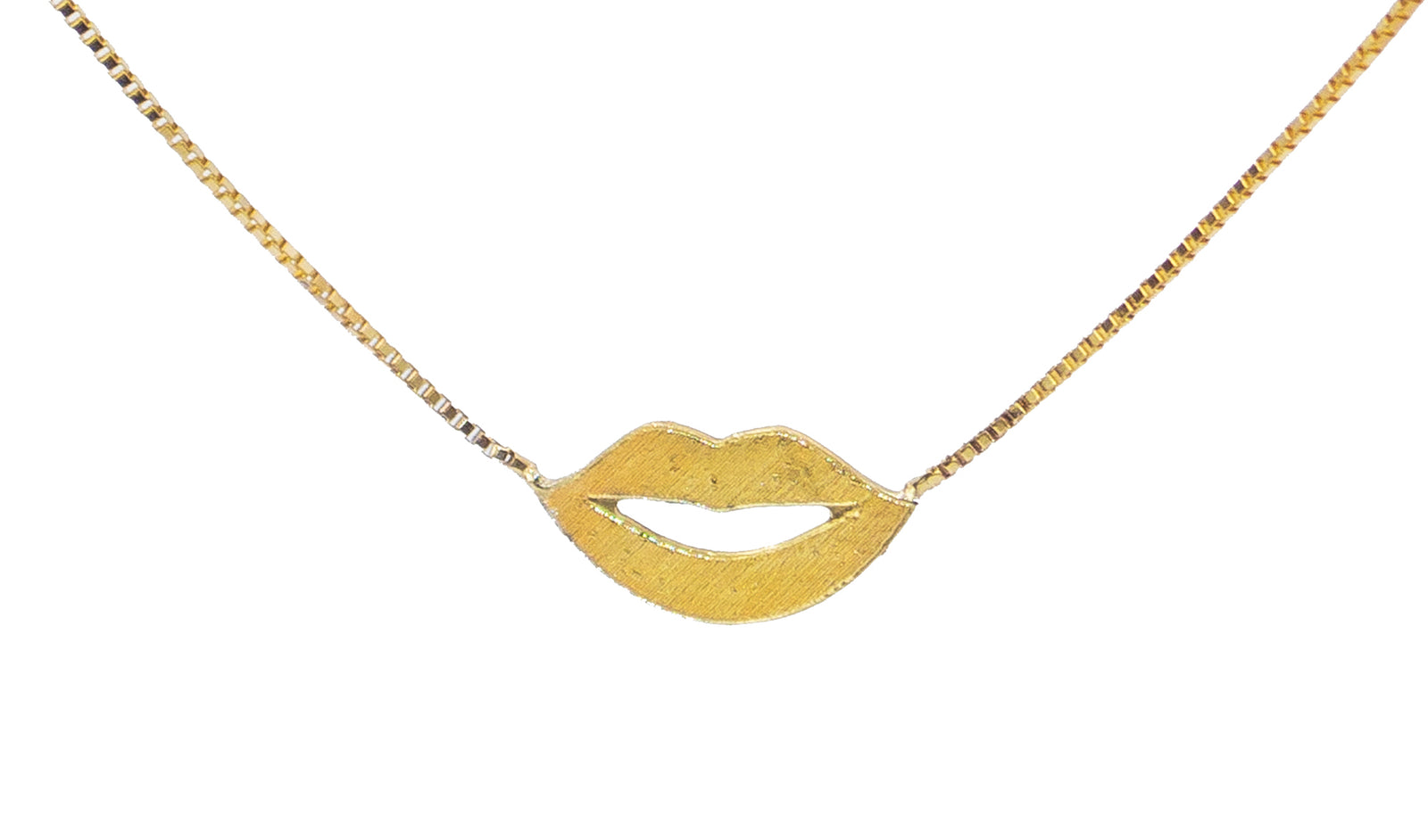 Gold Beso Necklace
