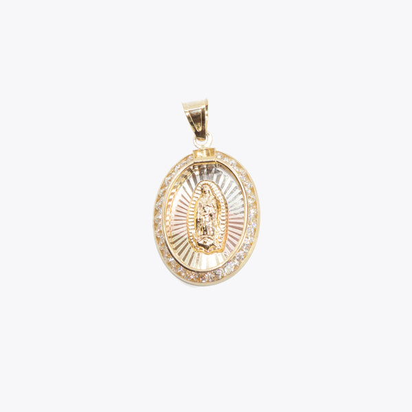 Small Virgencita Oval Pendant