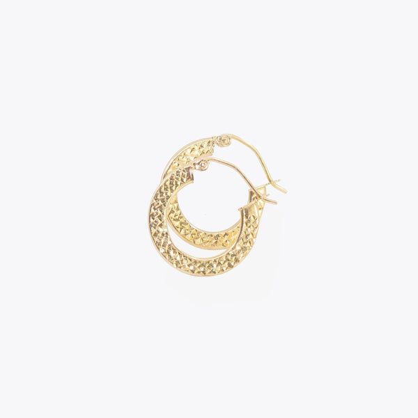 Mini Diamond Cut Hoops
