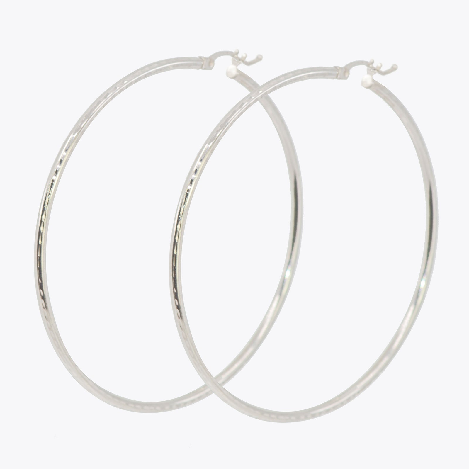 GG XL white Gold Hoops
