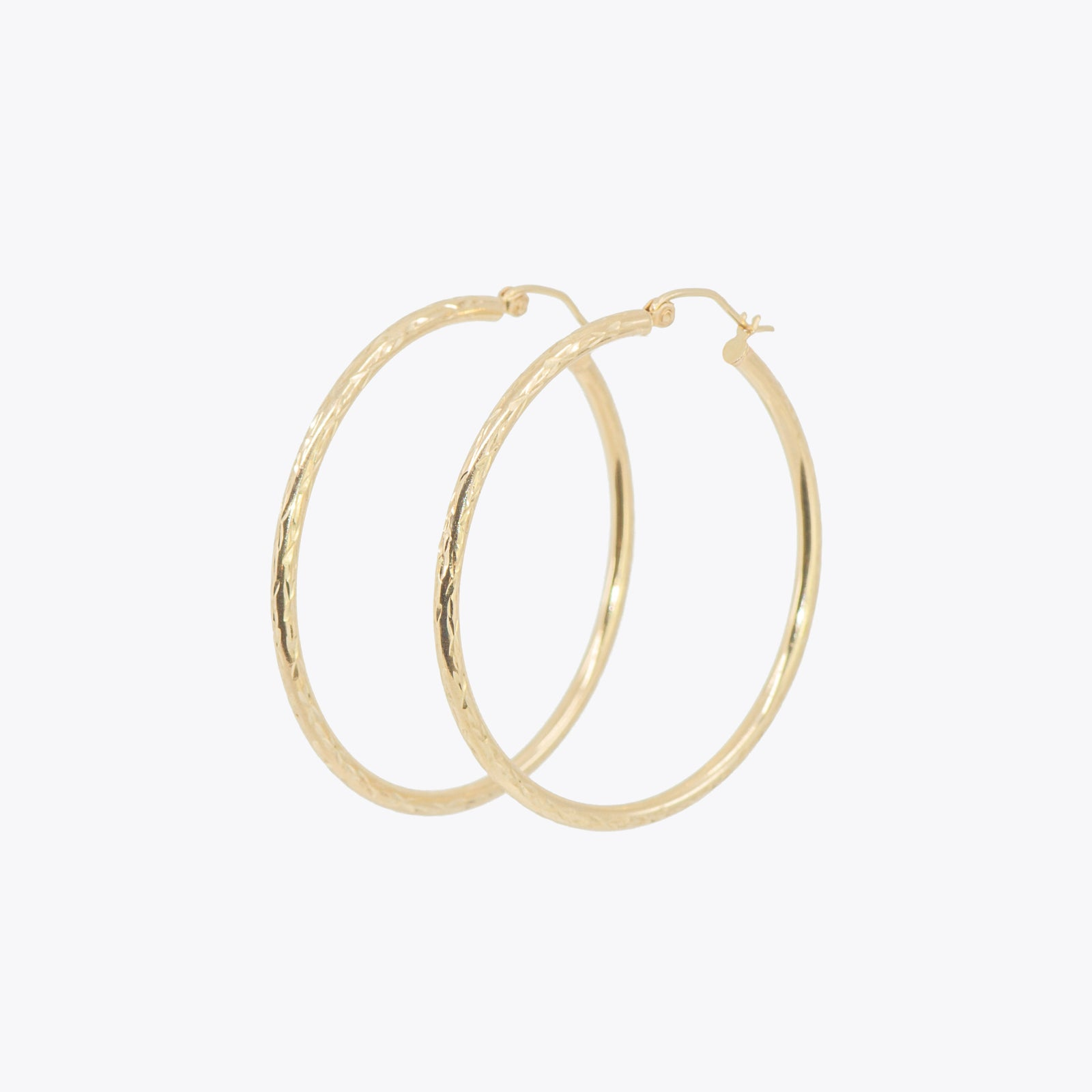 Diamond Cut Hoops