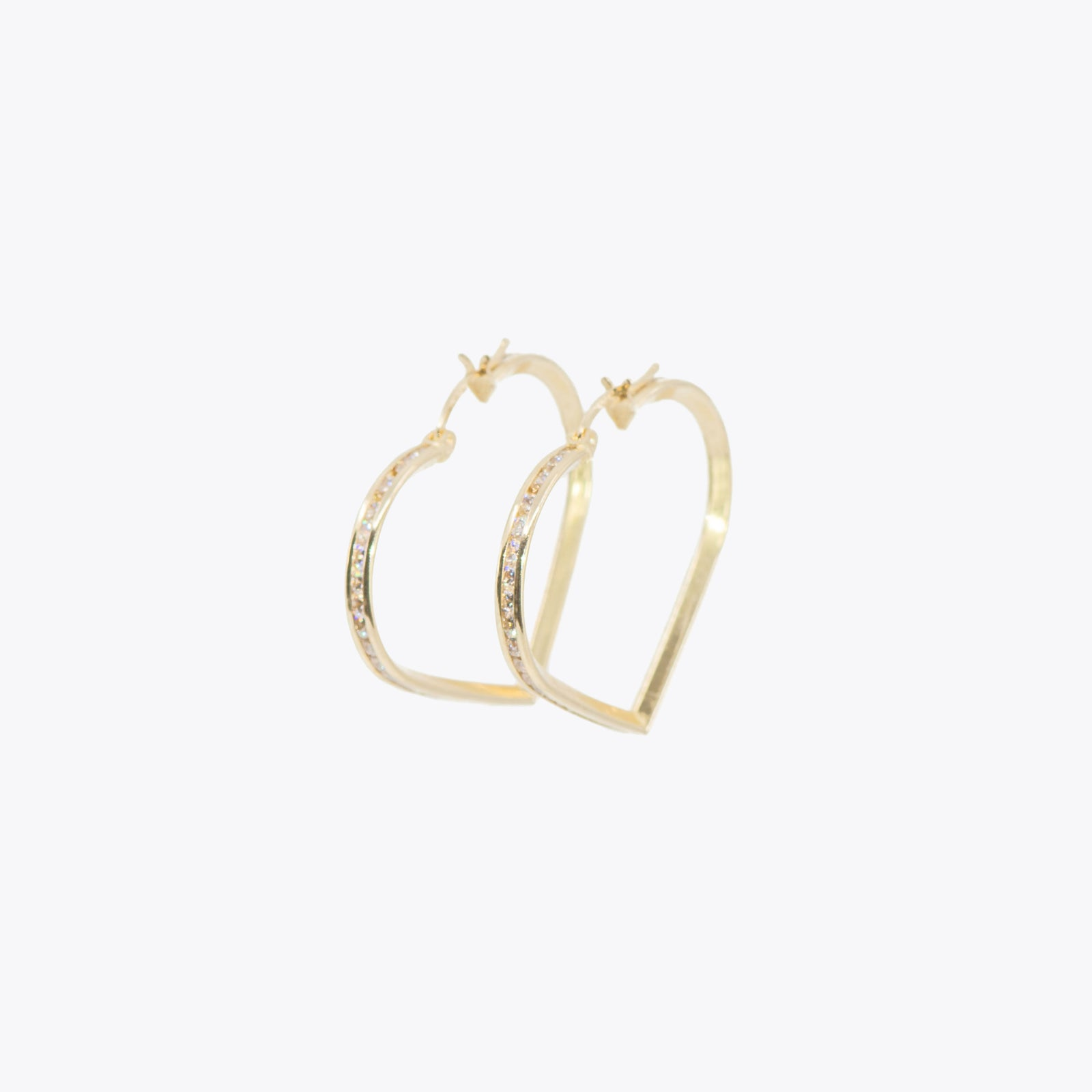 Heart iced out Hoops