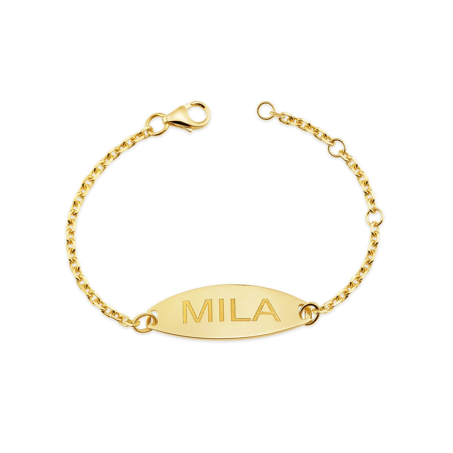 Kid's Oval ID Engravable Bracelet