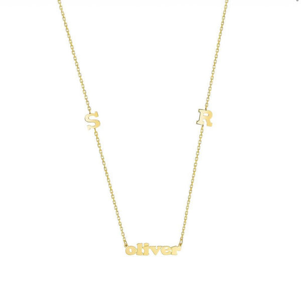 MOMMY INITIAL & NAME NECKLACE