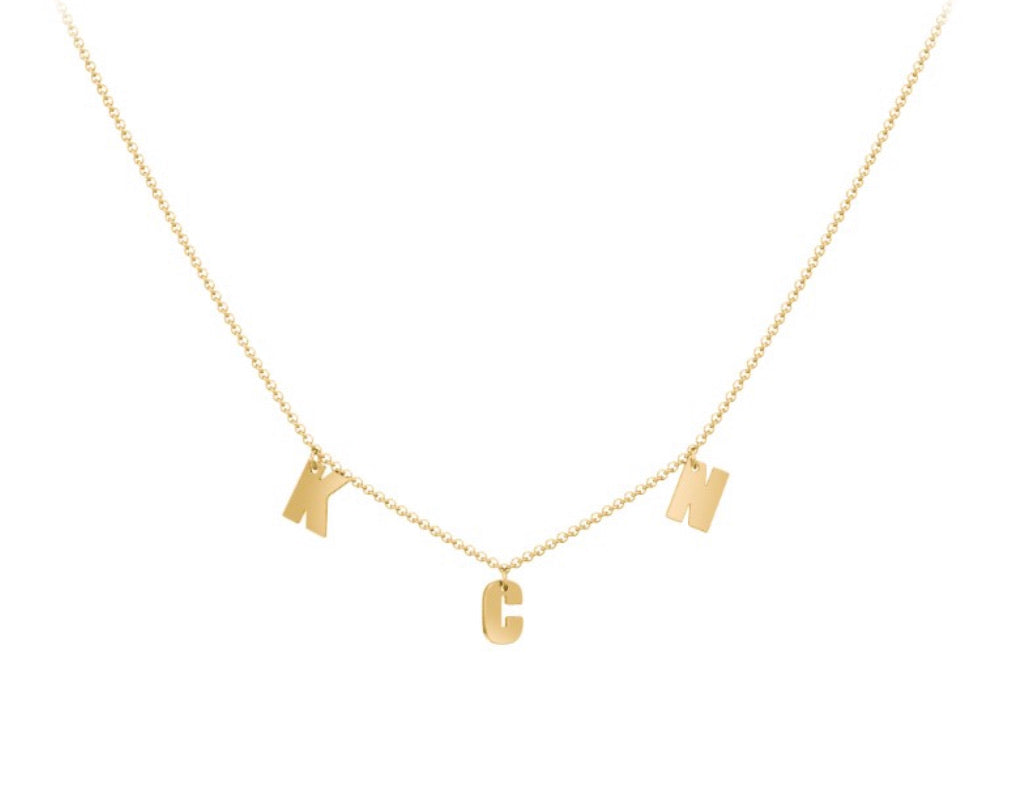 3 INITIALS NECKLACE