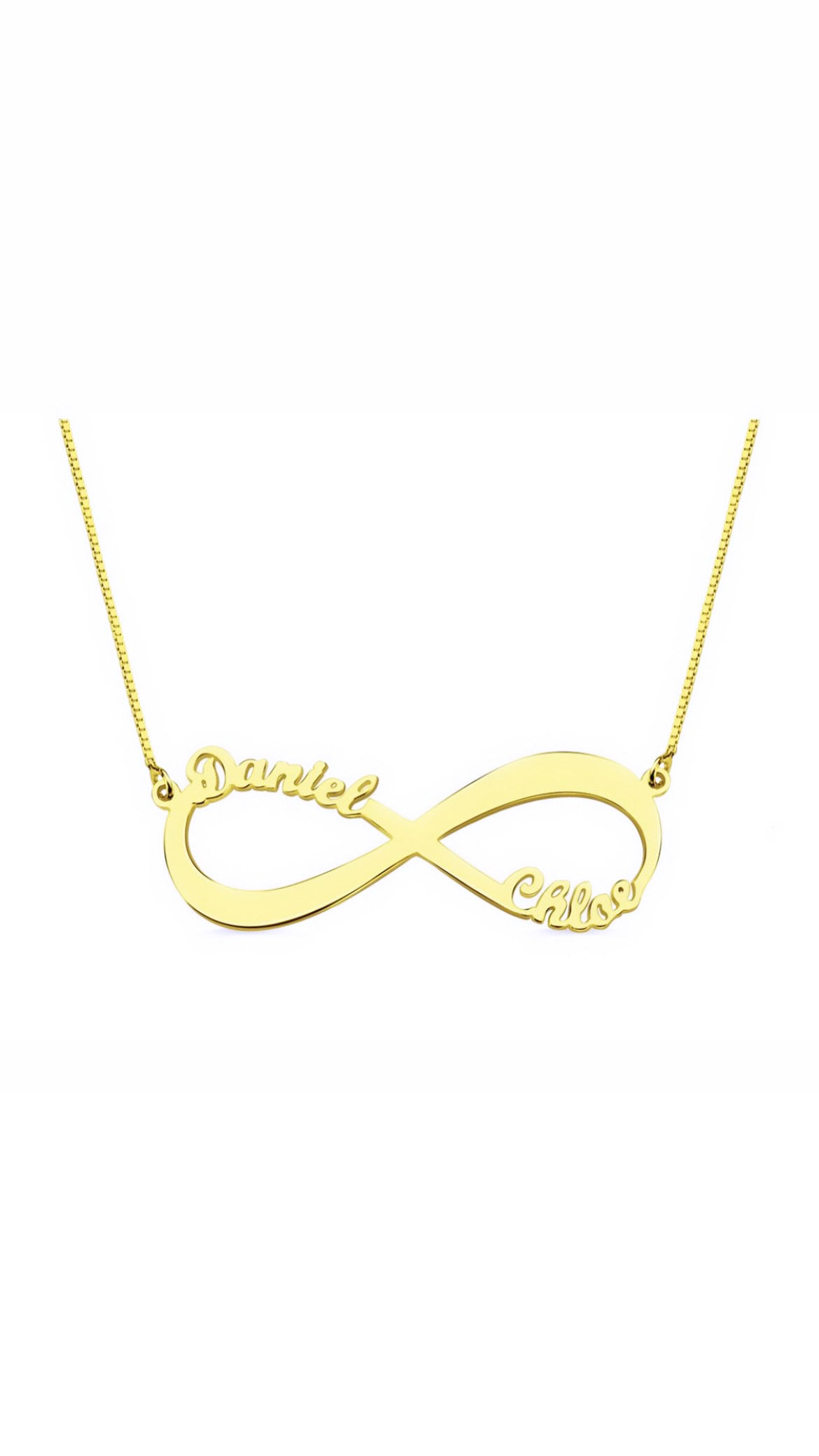INFINITY PERSONALIZED NECKLACE