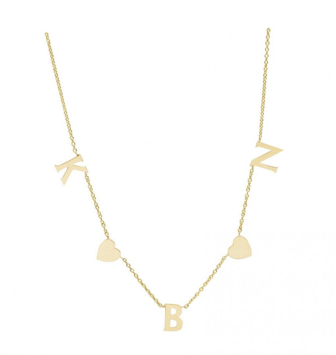 PERSONALIZED HEARTS & INITIALS NECKLACE