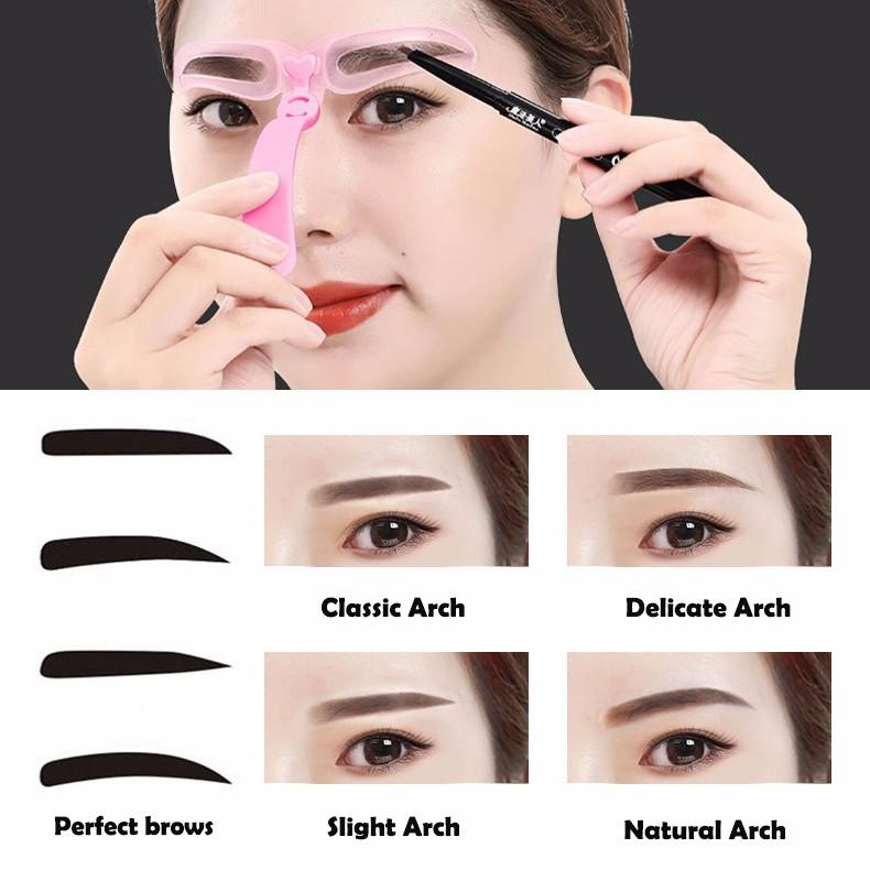 8 Pieces Reusable Eyebrow Makeup Tools