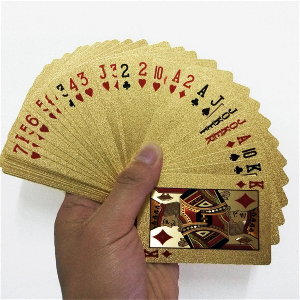 24K Gold Playing Cards Poker Game Magic Card Waterproof Cards Magic