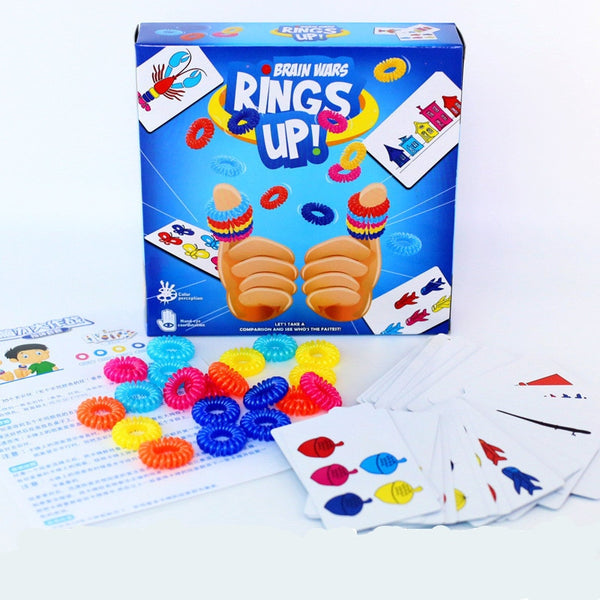kids floor game RINGS UP Table game Tour Ring Set Card Game