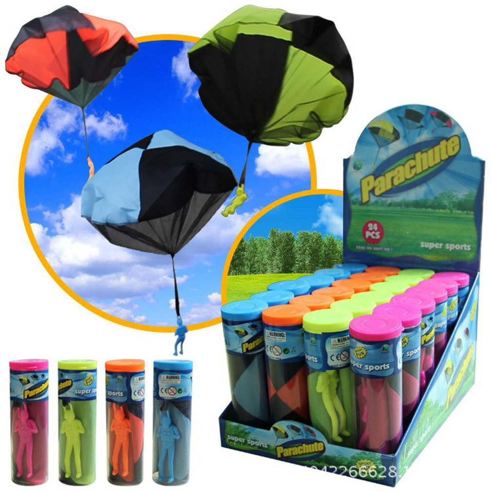 Kids Outdoor Hand Throwing Parachute For Children's Educational 4 colors