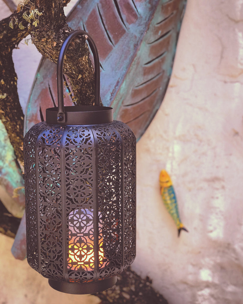Flickering USB Lantern Black - The Kemble Shop