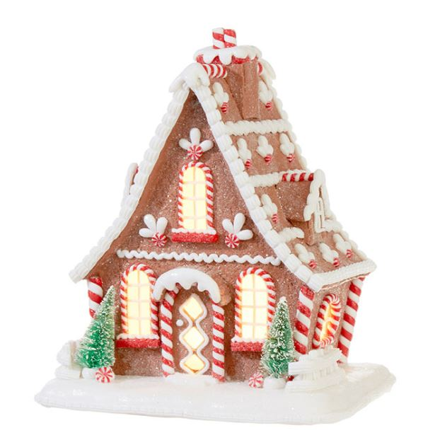 "Lighted Ginger Bread House - 10.5"" - The Kemble Shop"