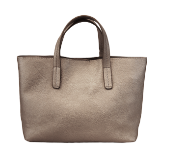 Metallic Pewter Medium Half Tote - The Kemble Shop