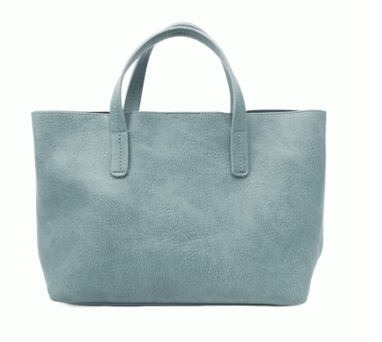 Powder Blue Medium Half Tote - The Kemble Shop