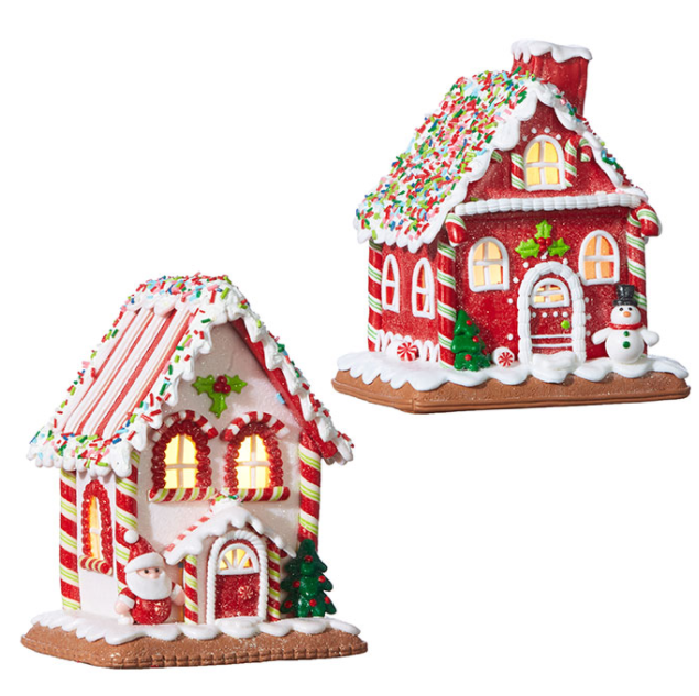 "Lighted Ginger Bread House - 7.25"" - The Kemble Shop"