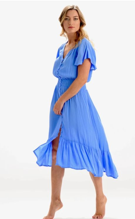 Ava Periwinkle Dress - Walker & Wade - The Kemble Shop