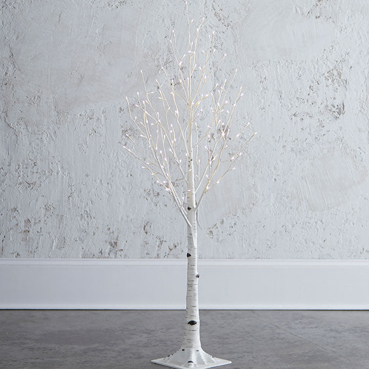 Lighted Birch Tree - 4.5 - The Kemble Shop