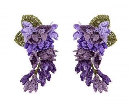 Purple Lilas Earrings - The Kemble Shop