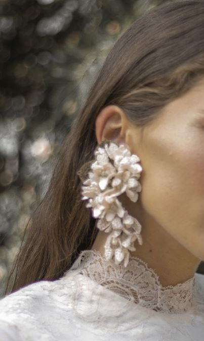 White Lilas Earrings - The Kemble Shop
