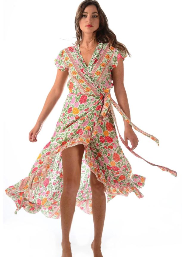 Red Floral Voyager Dress - Walker & Wade - The Kemble Shop