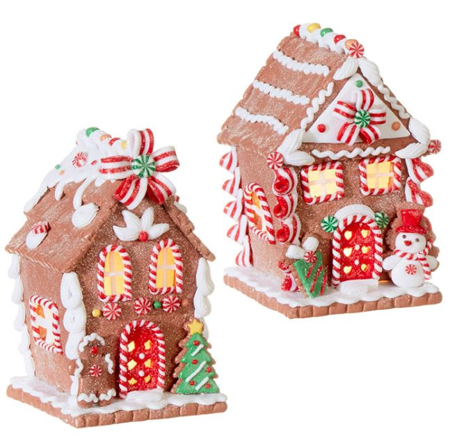 "Lighted Ginger Bread House - 5.5"" - The Kemble Shop"