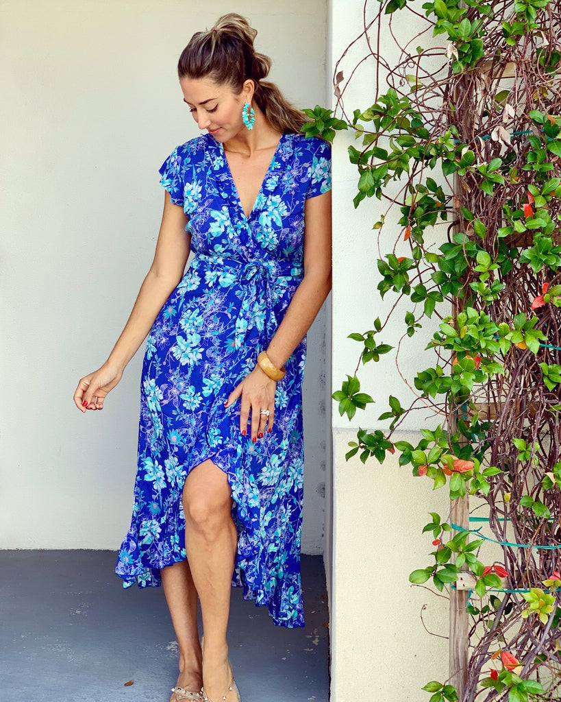 Ocean Blue Voyager Dress - Walker & Wade - The Kemble Shop