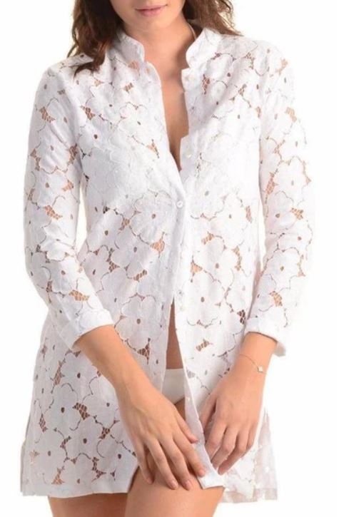 Bali Beach Blazer / White Lace - Walker & Wade - The Kemble Shop