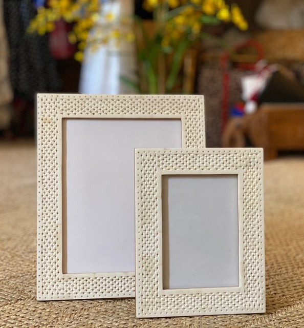 Bone Inlay Perforated Frames - The Kemble Shop
