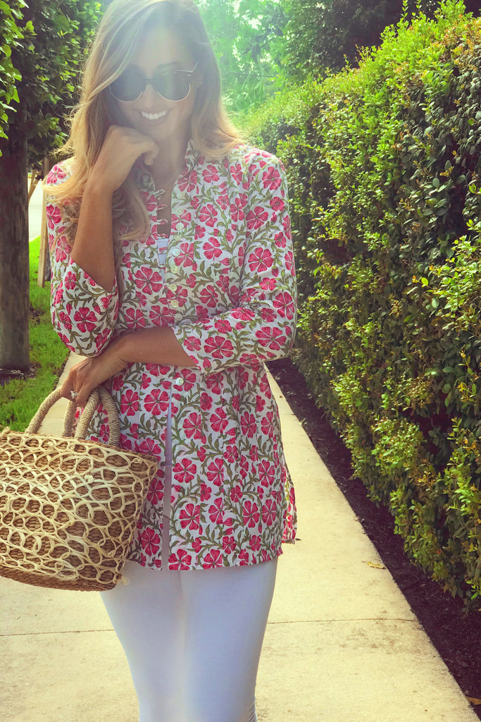 Pink Petunia Palm Beach Tunic - The Kemble Shop