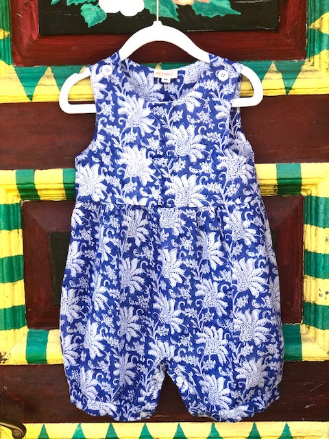 Blue and White Palm Beach Romper - The Kemble Shop