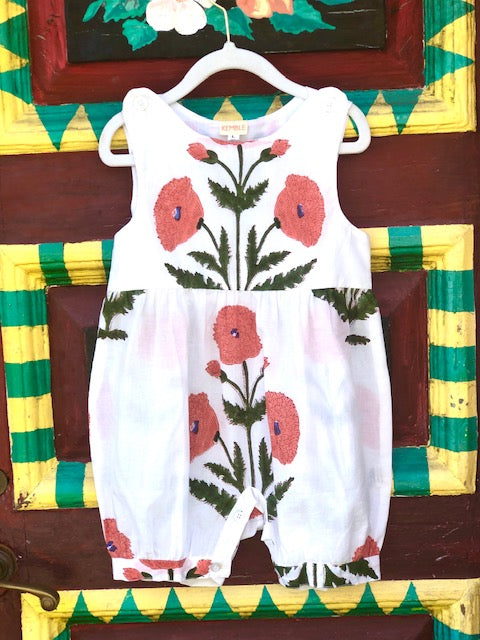 Orange Poppy Palm Beach Romper - The Kemble Shop
