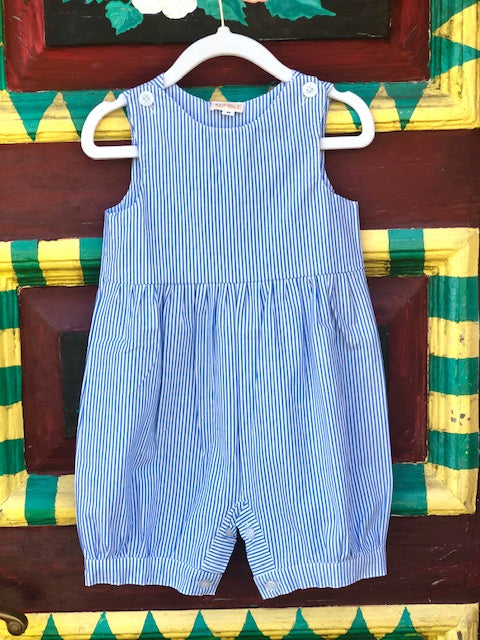 Blue and White Striped Palm Beach Romper - The Kemble Shop