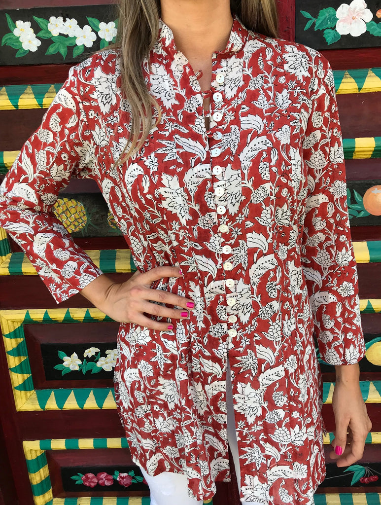 Burnt Umber Palm Beach Tunic - The Kemble Shop