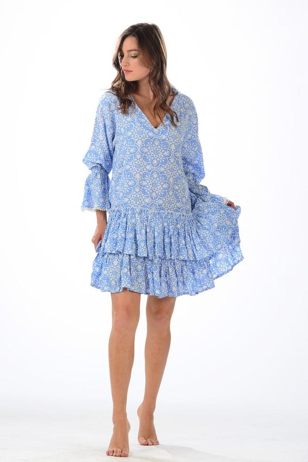 Periwinkle Medallion Travel Dress - Walker & Wade - The Kemble Shop