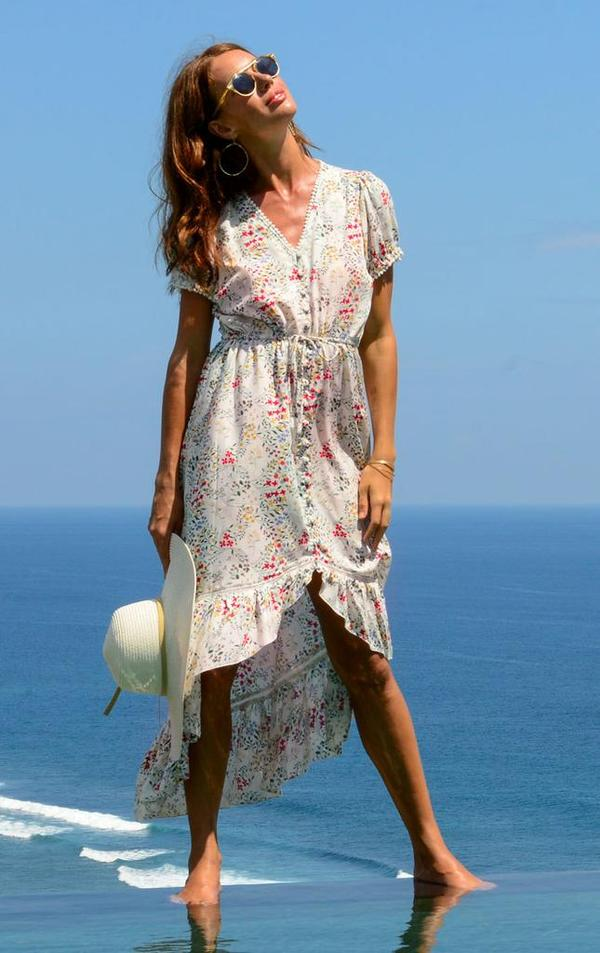 Ivory Floral Tia Dress - The Kemble Shop