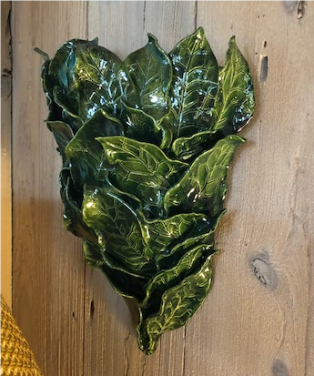 Large Ceramic Sea Grape Leaf Wall Planter - The Kemble Shop