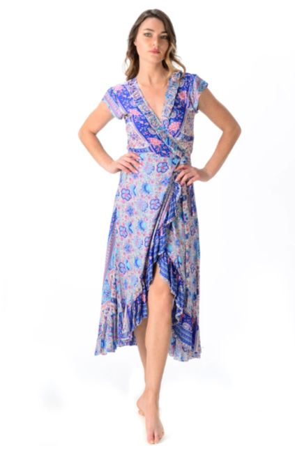 Aqua Rose Voyager Dress  - Walker & Wade - The Kemble Shop